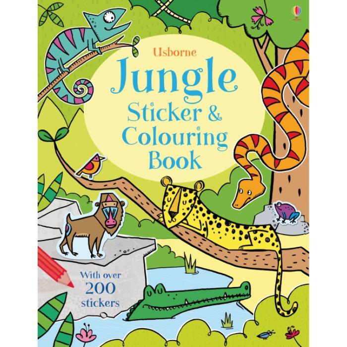 Jungle Sticker and Colouring Book - Kreativität - Spielen und Lernen ...