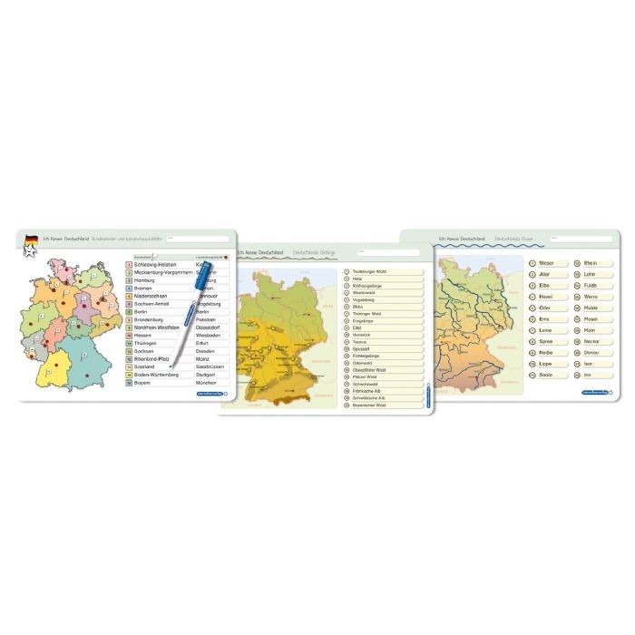 Deutschland Karte Flusse Und Gebirge.Ich Kenne Deutschland Bundeslander Landeshauptstadte Flusse Gebirge 3 Lernvorlagen